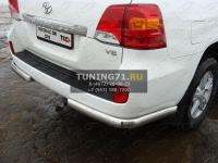 Защита задняя (уголки овальные) 75х42 мм Toyota Land Cruiser 200 2012